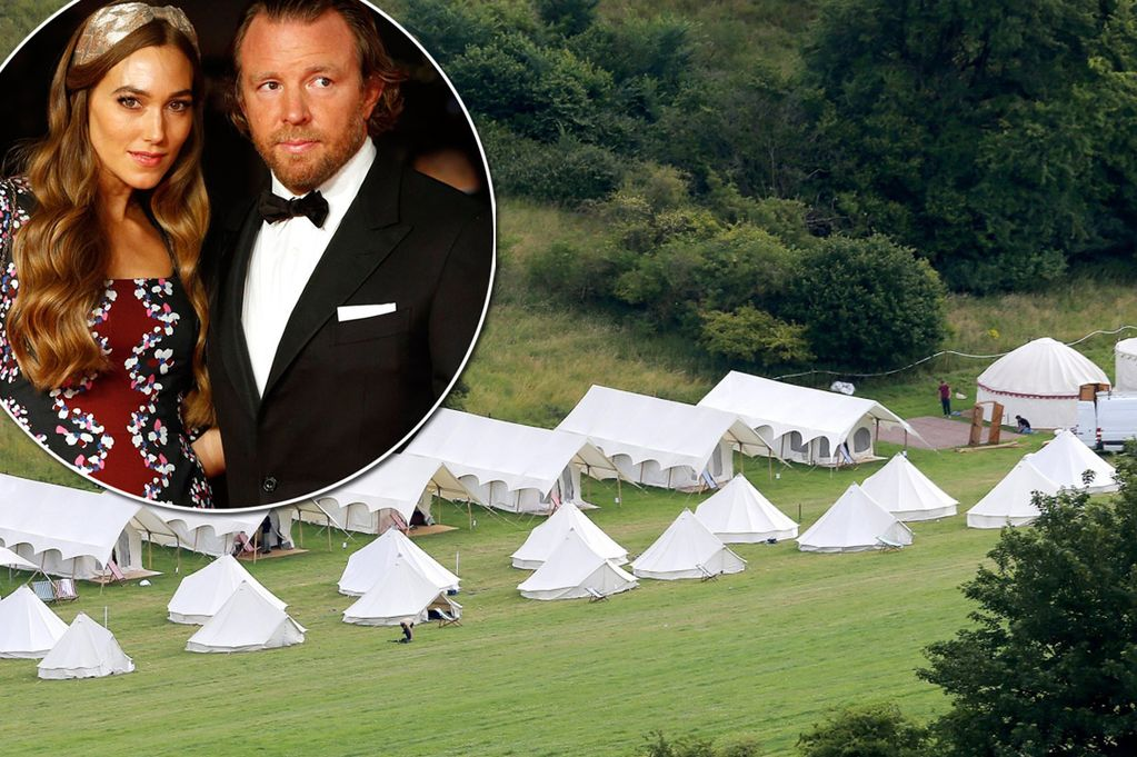 Guy Ritchie and Jacqui Ainsley Main - Hotel mariage, découvrez le Wedding Camping !!!