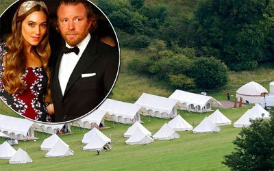 Guy Ritchie and Jacqui Ainsley wedding camp