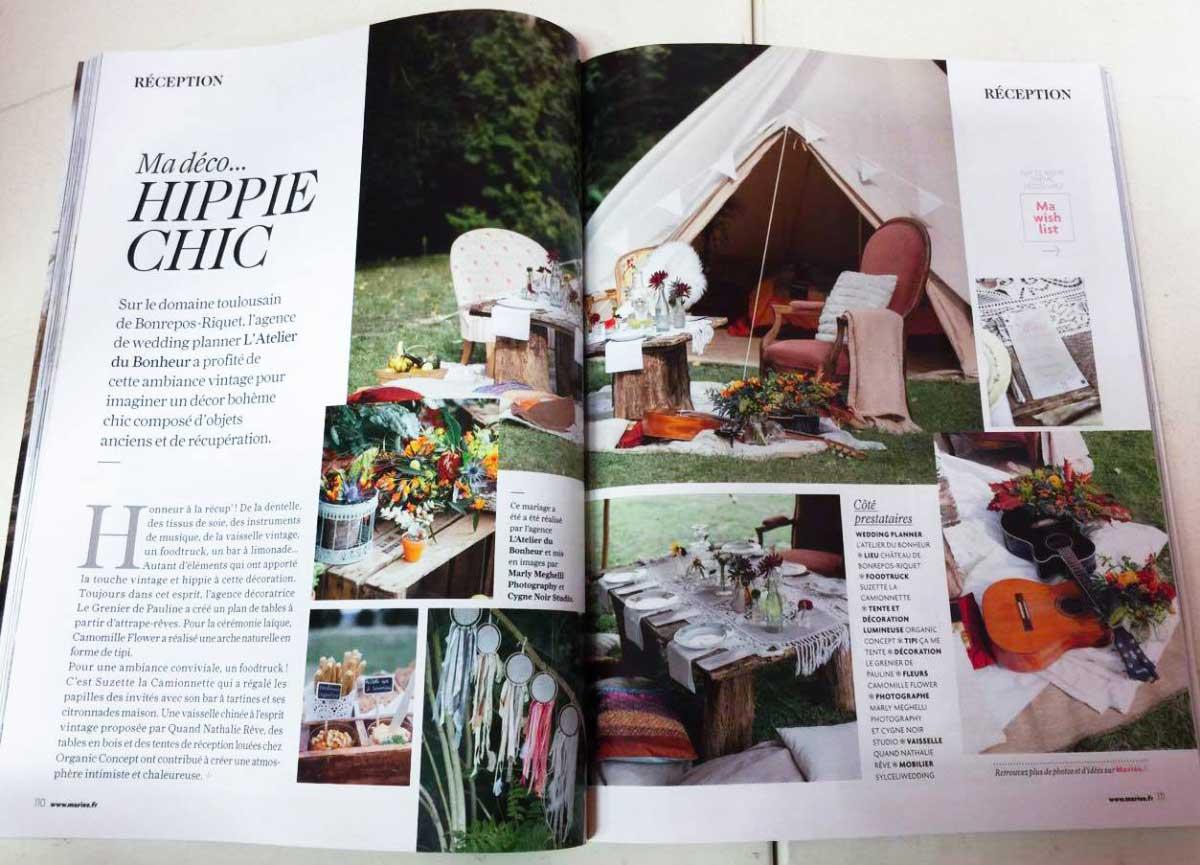 Mariee magazine juin 2016 2 - Article Mon Wedding Camping Mariée Magazine Juin 2016