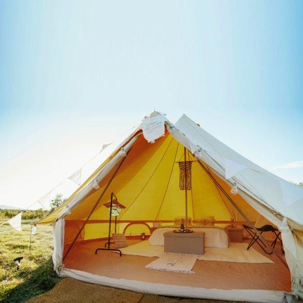 Tente Sibley ultimate 500 amenagée romantique