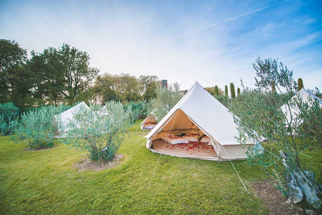 amour travail wedding camping - Garanties