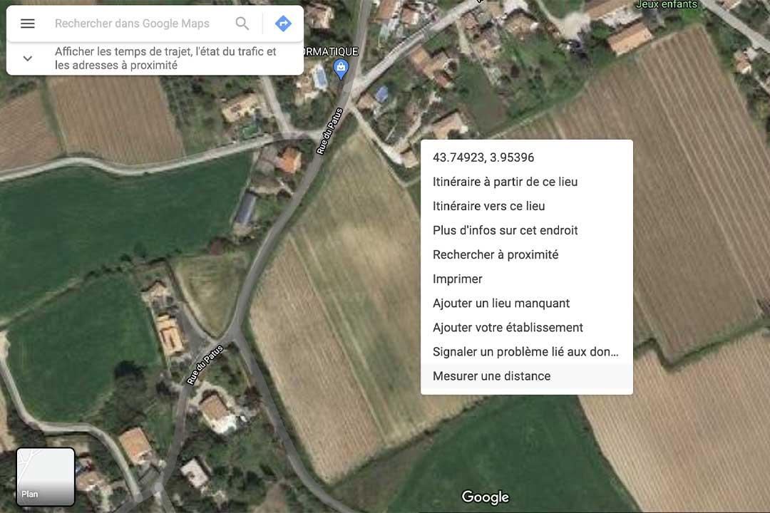 vue satellite mesurer terrain - Comment mesurer son terrain ?