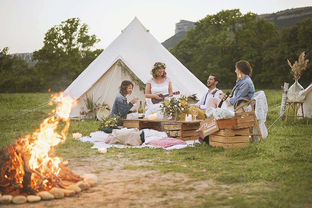 wedding camping hebergement experience unique invites mariage2 - 5 bonnes raisons d'installer un Wedding Camping